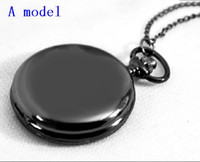 Wholesale Silver Mens Pocket Watches - 10PCS 2 color Premium Brushed 47mm Quartz Silver Full Hunter Case Railroad Mens Gift Pocket Watch Unisex Wristwatch Men's pocket Watch