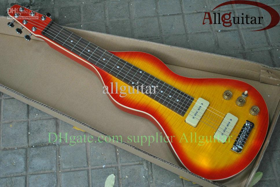 6 Cordas Hawaii guitarra curso colo sunburst violão de aço