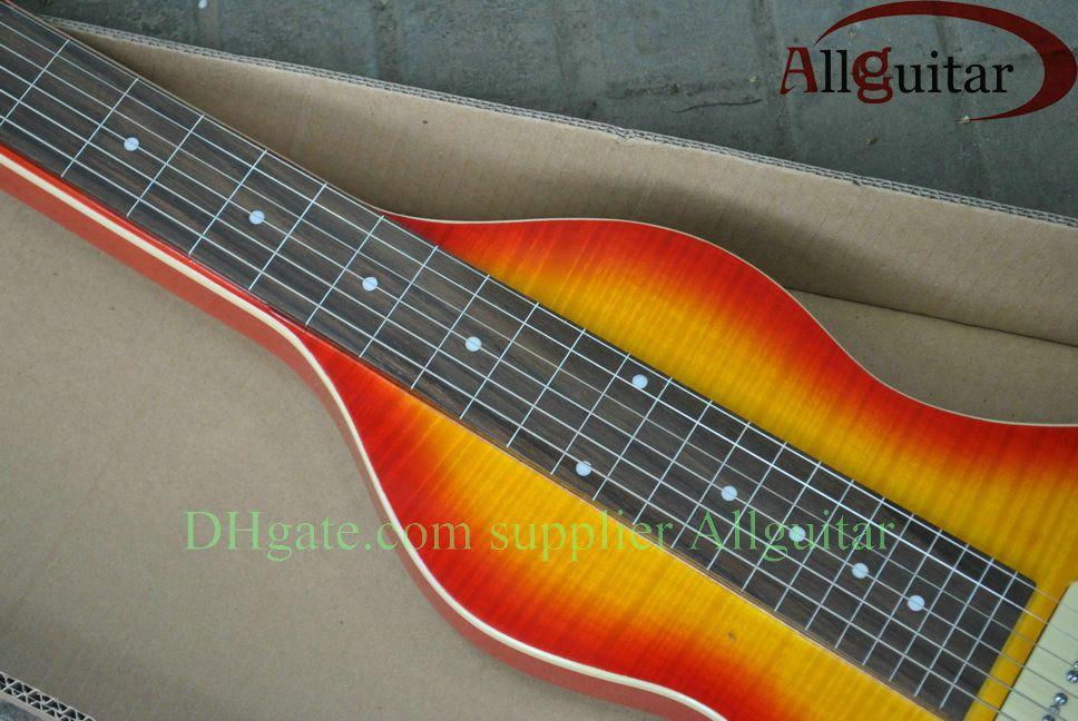 6 cordes Hawaii Voyage guitare sunburst guitare lap steel