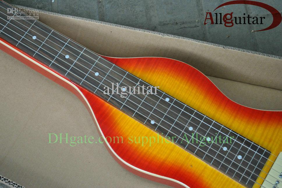 6 snaren Hawaii Travel Guitar Lap Steel Guitar Sunburst