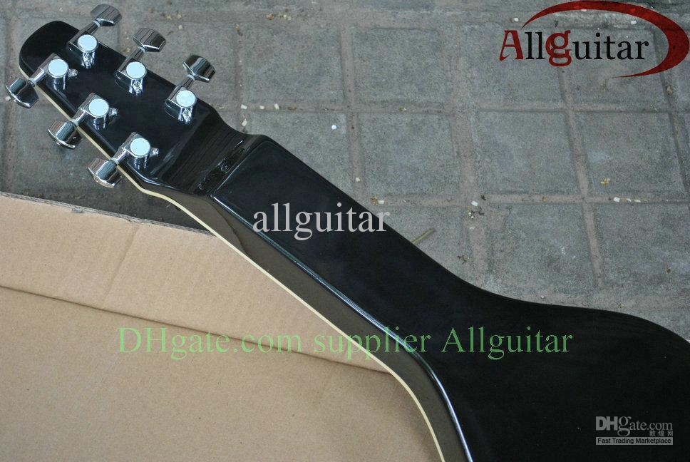 Guitarra de aço do colo da guitarra de 6 cordas Havaí com cor preta do recolhimento P90