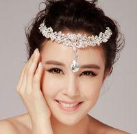 Wholesale Elegant Wedding Bridal Jewelry Headpiece - elegant Style Wedding Party Bridal Jewelry crystal floral headpiece headdress headwear headband hair Tiara accessories jt030