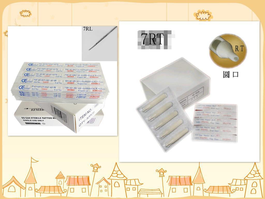Professional Tattoo Needle 7RL 100PCS/BOX and tattoo tip 7rt 100PCS/BOX high quality