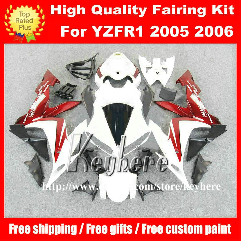 Free 7 gifts ABS Plastic fairing kits for YAMAHA YZFR1 2004 2005 2006 YZF R1 04 05 06 YZF1000R fairings G3m red white motorcycle bodywork