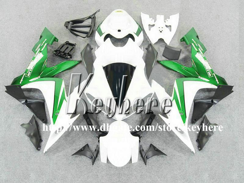 Livre 7 presentes ABS kits de carenagem de plástico para YAMAHA YZF R1 2004 2005 2006 YZFR1 04 05 06 YZF1000R carenagens G2n novas peças da motocicleta branco verde