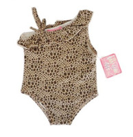 Wholesale Size M M Children swimwear set spring girls child baby infant swimsuit leopard print swimsuit