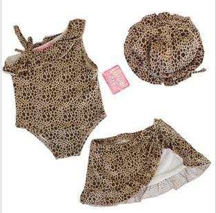 Taille 12M-24M, enfants maillots de bain mis printemps filles enfant bébé maillot de bain bébé imprimé léopard
