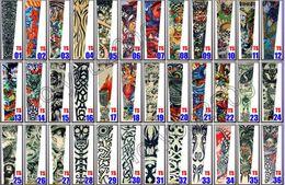 Топ 10шт Fancy Tattoo Stripe Sleeves Рукава с рукавом Большой дизайн татуировки для мужчин