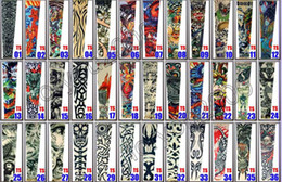 Wholesale Top Women Sleeve Tattoos - Top 10pcs Fancy Tattoo Stripe Sleeves Arm Dress Sleeve Great Tattoo Design For Men & Women