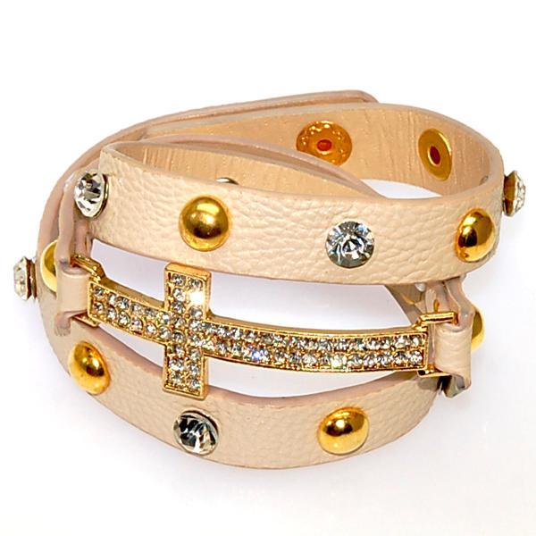 Nuovi braccialetti di fascino avvolti di cristallo Micro pavimentano i braccialetti di cuoio dell'involucro del doppio della discoteca della CZ il regalo delle donne