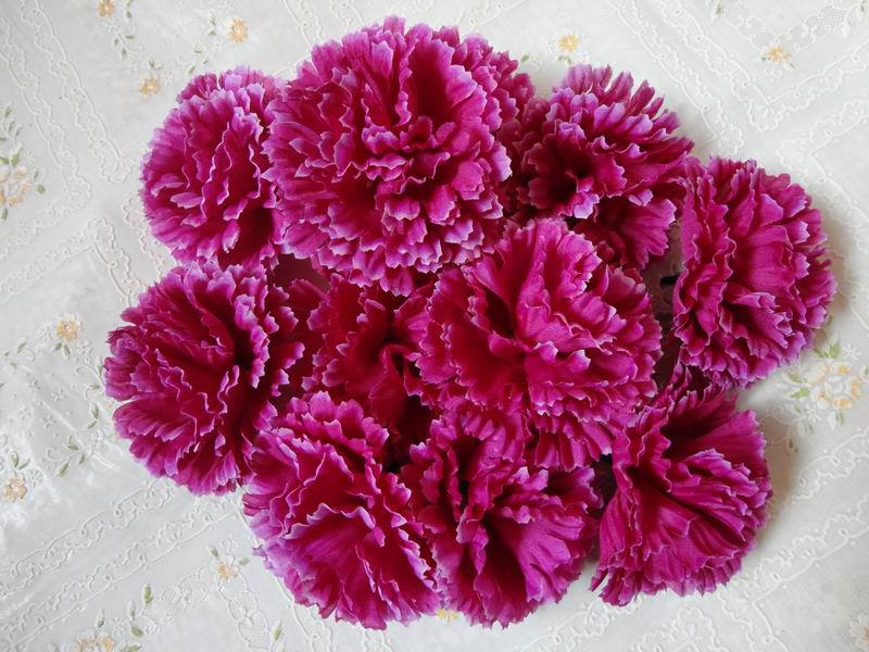 New Arrrivals Couleur Conception Diamètre 9 cm Soie Artificielle Tissu Tissu Têtes de Fleurs