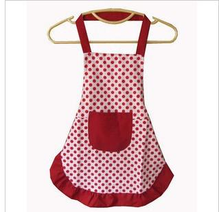 korean cute dot baby fashion aprons painting canvas aprons show cooking aprons - Cooking Aprons