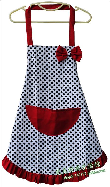 Wholesale Special Korean Version Of The Canvas Aprons Cute Aprons Stylish Kitchen  Apron Dot Overalls