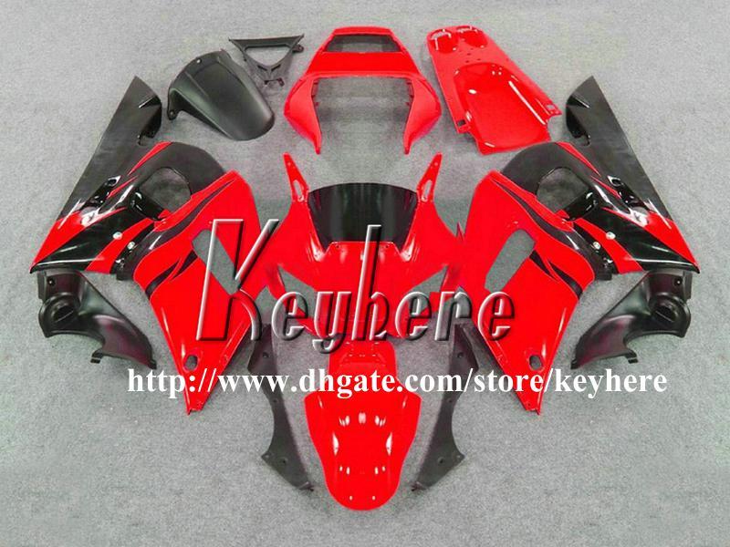 Kit carena 7 regali YAMAHA YZFR6 1998 1999 2000 2001 2002 YZF600R YZF R6 98 99 00 01 02 carene G1n carrozzeria nero rosso