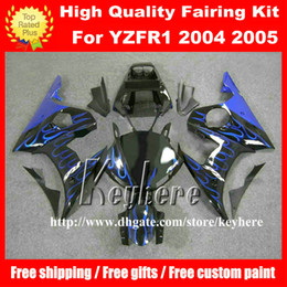 motorcycle r6 body kit 2020 - Free 7 gifts Custom plastic fairing kit for YAMAHA YZFR6 2005 YZF R6 05 YZF-R6 YZF600R fairings G2m blue flames black mo