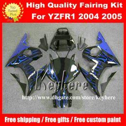 Wholesale Custom R6 Plastics - Free 7 gifts Custom plastic fairing kit for YAMAHA YZFR6 2005 YZF R6 05 YZF-R6 YZF600R fairings G2m blue flames black motorcycle body work