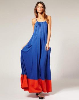 Halter maxi dress with pockets