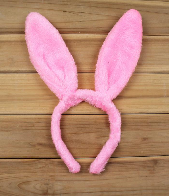 25 stks / partij Mode Verschillende Kleuren Schattige Bunny Kostuum Bunny Oren Hoofdband voor aankleden Partij Levert MA33