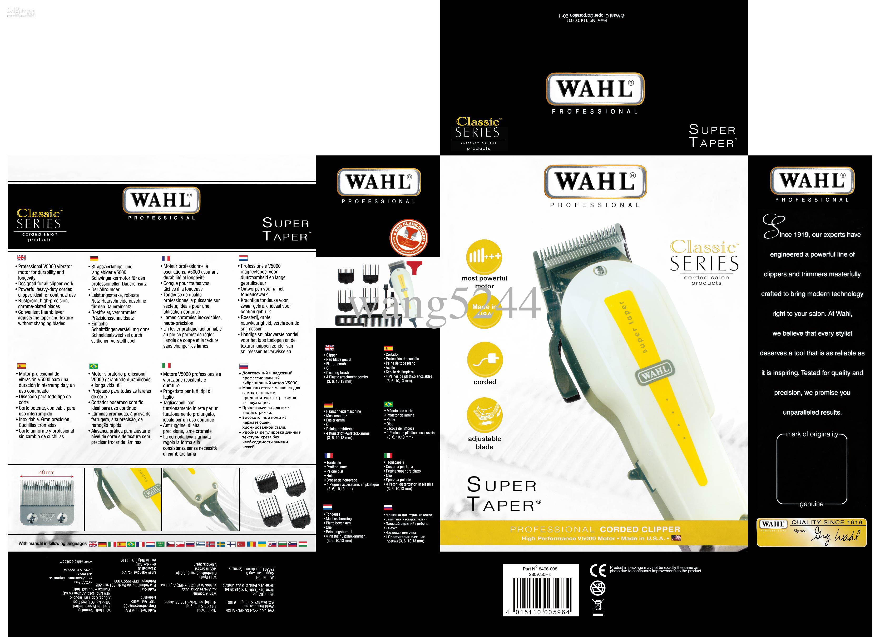 Wholesale New Super Taper Professional Corded Clipper WAHL Hair Trimmer  Professional Electric Clipper Trimmer Clipper Trimmer And Clipper From  Wang5244 b295ce3ea6
