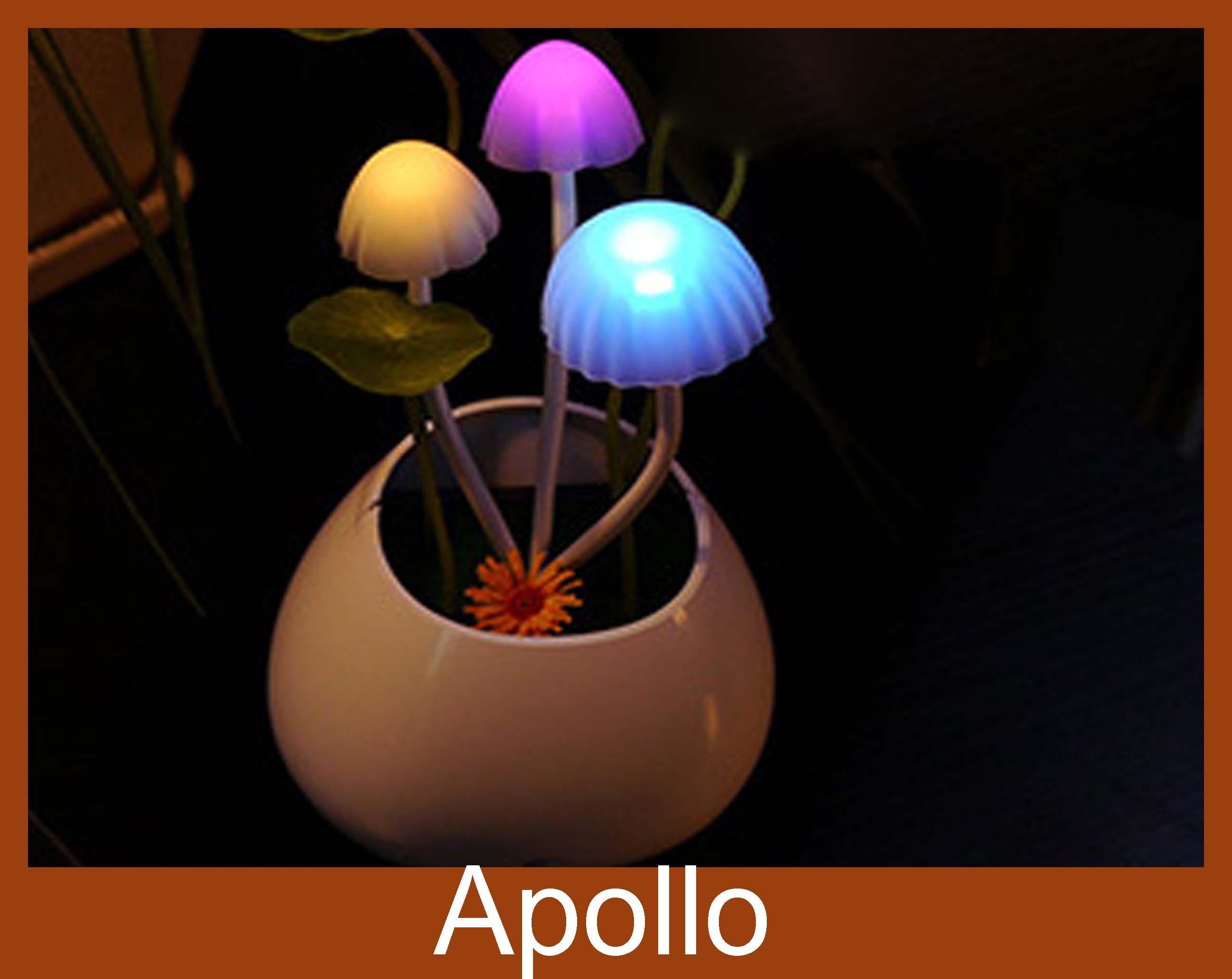 2018 smart led night light avatar mini mushroom light sensor lamp