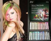 Wholesale Ems Hair Chalk - free shipping(EMS) 24 colors Box  Temporary Hair Pastel Chalk Bug Rub hair chalk Soft Pastels 20 set