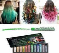 Wholesale Ems Hair Chalk - free EMS 12 colors Box  Temporary Hair Pastel Chalk Bug Rub hair chalk Soft Pastels 50 set #09