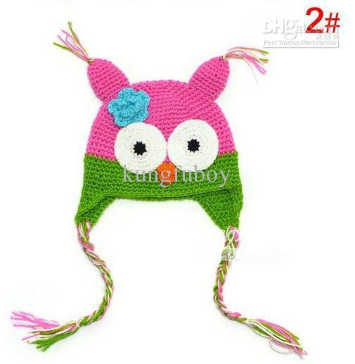 Toddler Owl EarFlap Crochet Hat Baby Handmade Crochet Hat Handmade OWL Beanie Knitted hat kungfuboy
