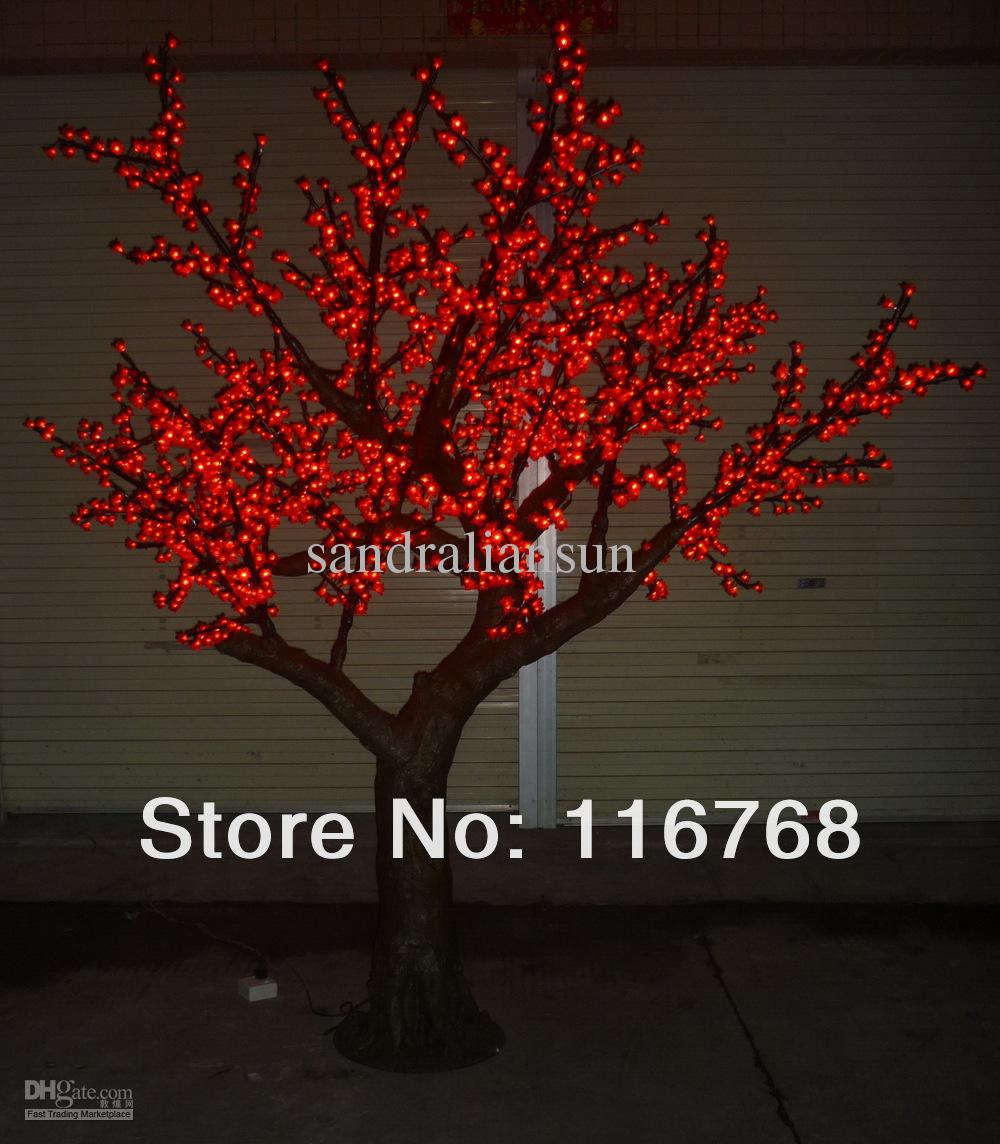 Great 2018 2.5m Red Led Lighted Trees With Artificial Peach Blossoms Landscape  Outdoor Lighting From Sandraliansun, $895.96 | Dhgate.Com