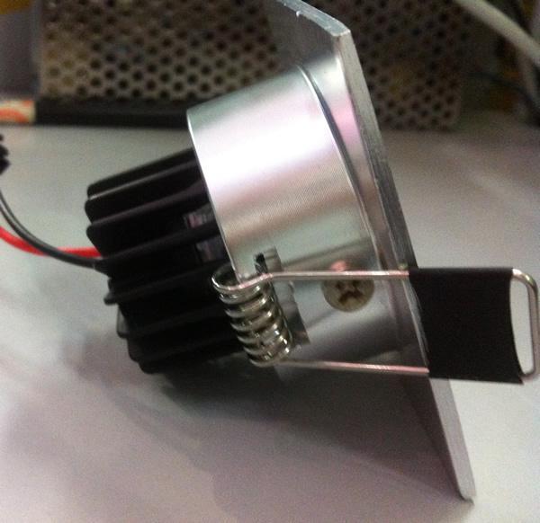 6 pz / lotto 3 W 330lm, 110 v 220 v COB led Quadrato dimmerabile LED Downlight bianco puro / caldo 2700 k
