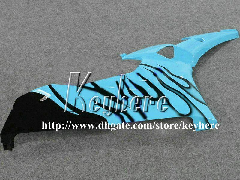 7 regali personalizzati Kit carena da gara YAMAHA YZFR6 2006 2007 YZF R6 YZF600R 06 07 carene g6m nuovo nero fiamme blu carrozzeria moto