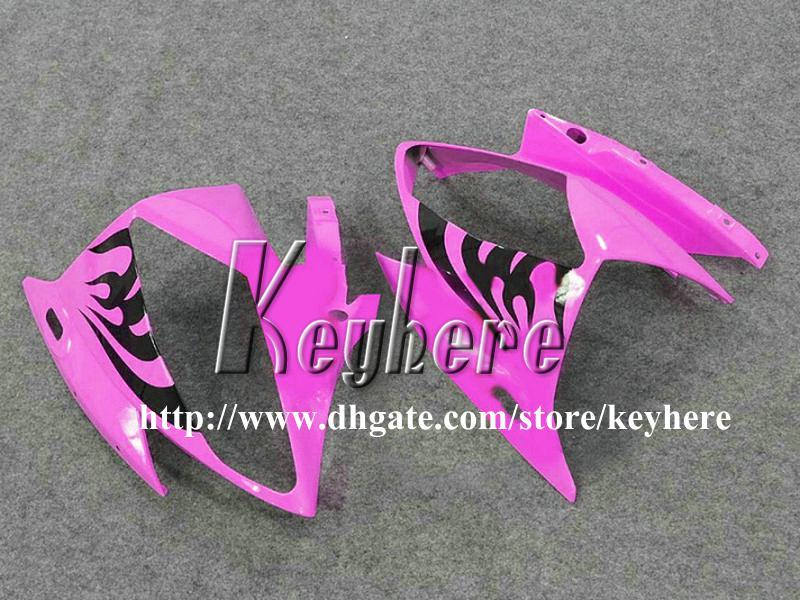 Grátis 7 presentes kit de carenagem de corrida personalizado para YAMAHA YZFR6 2006 2007 YZF R6 YZF600R 06 07 carenagens g7m novas chamas pretas rosa carroçaria da motocicleta