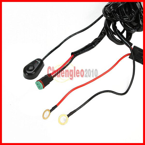 Universal Harness Car Driving Holder Relay On/Off Switch Loom Kit Fuse 40A Up to 3.5M Wire For 1 SUV ATV 4WD 4x4 Off-Road LED Work Light Bar