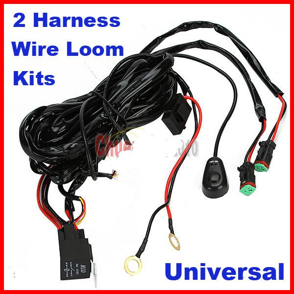 Universal Harness Car Driving Holder Relay On/Off Switch Loom Kit Fuse on