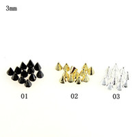 Wholesale Metal Spikes Studs - Nail Supplies Spikes And Studs For Crafting 1bags lot(100pcs bag) 1 design Nail Art Metal Unique Items Nail Accessories 3d