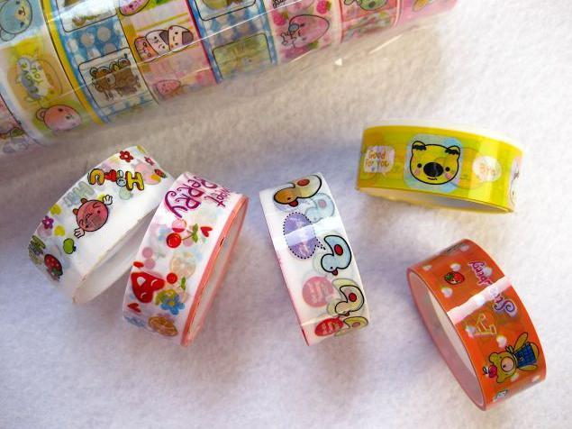 Bonito Bonito Dos Desenhos Animados Colorido Fita DIY Pano Grade Adesivos Bonito Papelaria Criativa Menor Preço Frete Grátis