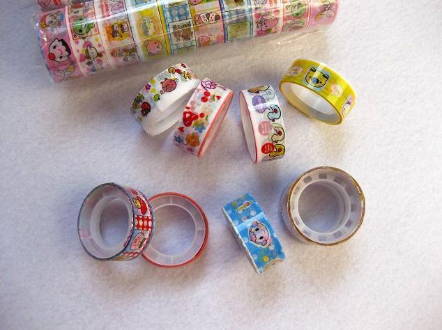 DIY Mini Cartoon Klebeband Aufkleber Rolls Dekorative Deco Rohr Kleinverpackung Nette Bunte Niedrigsten Preis Kostenloser Versand