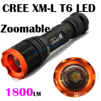 Wholesale Kc Led - Tactical 12W 1800lumen CREE XML XM-L T6 Zoomable focus flashlight torch by 18650 batttery 7 mode kc-01