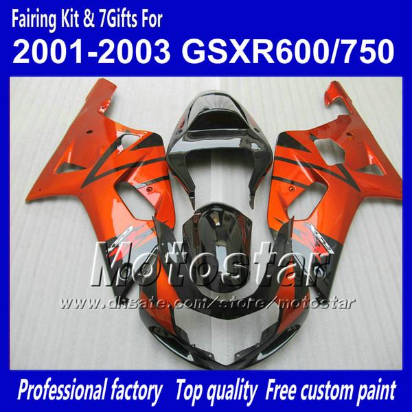 Bodywork fairing for uzuki g xr 600 750 k1 2001 2002 2003 g xr600 g xr750 01 02 03 r600 r750 fairing et qq41 7 gift