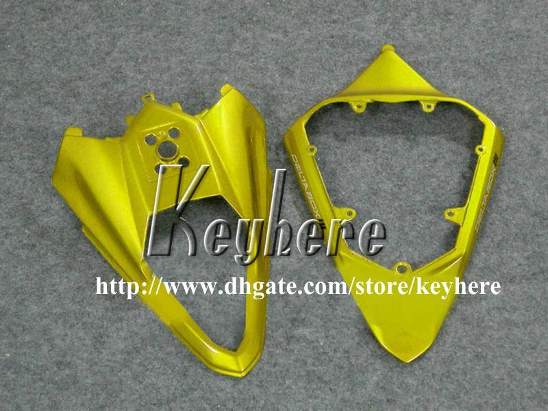 Grátis 7 presentes kit de carenagem de corrida personalizado para YAMAHA YZFR6 2008 2009 YZF-R6 YZF600R 08 09 carenagem g1p venda quente preto carroceria de motocicleta de ouro