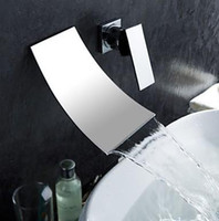 Wholesale wall mount waterfall faucet bath faucet basin sink faucet mixer sink tap