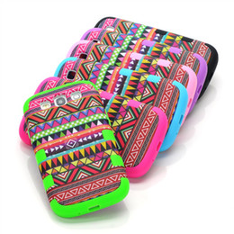 Wholesale Silicone Aztec - Cheapest Retro Aztec Tribal Hybrid Hard Case Cover for Samsung Galaxy S3 i9300 DHL Free shipping 200pcs