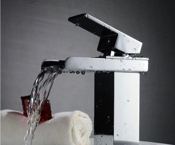 1pc badezimmer wasserhahn waschtisch küche-wannen-hahn-wasserfall