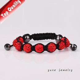 Wholesale New Shambala - Shamballa Bracelets Red Crystal Czech Friendship Clay Beads Shambala Jewelry New Arrivel Mix Colors Options YZ10