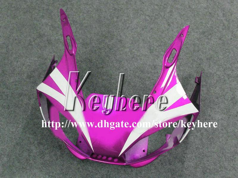 Kit de carénage 7 cadeaux gratuit pour YAMAHA YZFR6 1998 1999 2000 2001 2002 YZF600R YZF R6 98 99 00 01 02 carénage G2p violet blanc pièces de moto