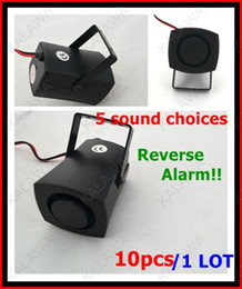 Wholesale Car Horns Alarm Systems - 1 Lot 10pcs lot Car Reversing alarm Backup alarms warning sound Beep backup speaker siren horn DF-2705 FFF Freeshipping~