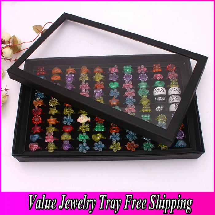2018 Rings Tray With Cover Jewelry Display Tray Quality Cardboard