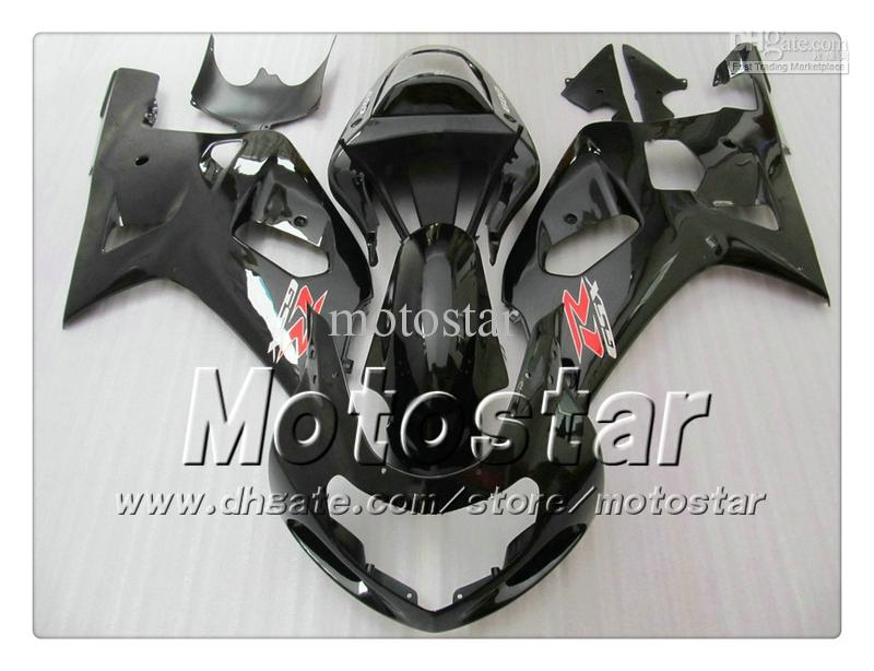 Carene carrozzeria SUZUKI GSXR 600 750 K1 2001 2002 2003 GSXR600 GSXR750 01 02 03 R600 R750 carenatura nero lucido set RR15
