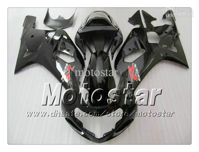 SUZUKI GSXR 용 차체 페어링 600 750 K1 2001 2002 2003 GSXR600 GSXR750 01 02 03 R600 R750 광택 블랙 페어링 세트 RR15