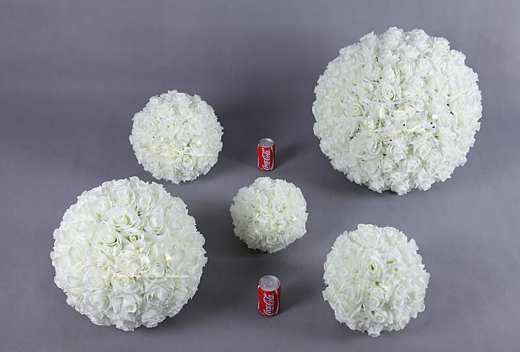 2018 White Rose Balls Bouquet White Artificial Flowers Dried Flowers ...