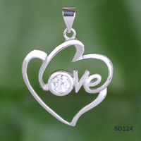 Wholesale Diy Cat Bag - Romantic Lovers Cat Eye Pendant 925 Sterling Silver Charms Dangle Jewelry Pendant Necklace DIY 5pcs bag Free Shipping SD124*5